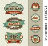set of sale labels | Shutterstock .eps vector #96930725
