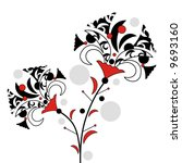abstract flowers | Shutterstock .eps vector #9693160