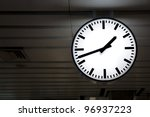 Public Clock In A Railway...