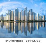 highrise glass skyscraper... | Shutterstock . vector #96942719