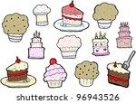 cartoon cakes collection ... | Shutterstock . vector #96943526