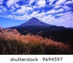 a scale clouds over mt fuji... | Shutterstock . vector #9694597