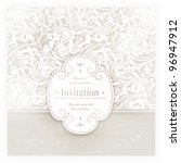 invitation  anniversary card... | Shutterstock .eps vector #96947912