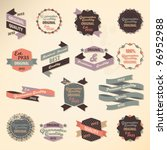 retro label collection | Shutterstock .eps vector #96952988