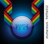 3d abstract rainbow disco... | Shutterstock .eps vector #96956312