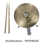 Hi Hat Cymbal And Drumsticks...