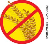 no wheat a red circle outline...   Shutterstock .eps vector #96970802