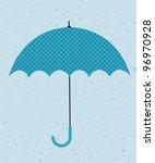 retro umbrella. vector... | Shutterstock .eps vector #96970928