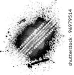 white tire track on black splash | Shutterstock .eps vector #96979514