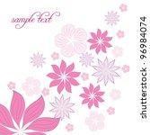 vector floral background | Shutterstock .eps vector #96984074