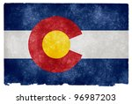 grungy flag of colorado on...   Shutterstock . vector #96987203