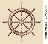 ship steering wheel vintage... | Shutterstock .eps vector #96999014