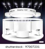 premium exhibition booth | Shutterstock .eps vector #97007231