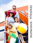 happy family going on holidays... | Shutterstock . vector #97010432