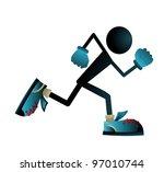 run puppet | Shutterstock .eps vector #97010744