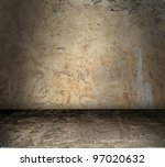 grungy stained concrete room... | Shutterstock . vector #97020632