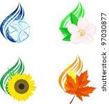 four seasons design elements | Shutterstock .eps vector #97030877