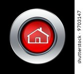 home icon with metal border... | Shutterstock . vector #9703147