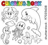 Coloring Book Various Sea...