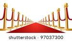 illustration of a red velvet... | Shutterstock . vector #97037300