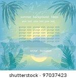 summer background in vintage... | Shutterstock .eps vector #97037423