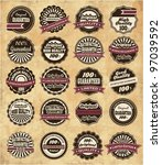 20 set high quality labels whit ... | Shutterstock .eps vector #97039592