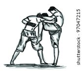 vector thai boxing collection   ...   Shutterstock .eps vector #97047215
