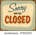 Vintage Metal Sign   Closed  ...