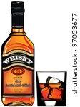 illustration of a bottle of... | Shutterstock .eps vector #97053677