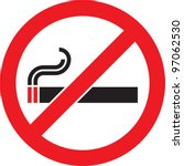 no smoking sign. vector... | Shutterstock .eps vector #97062530