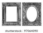antique frame on the white... | Shutterstock . vector #97064090