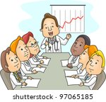 illustration of a group of... | Shutterstock .eps vector #97065185