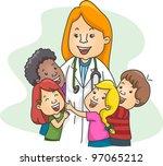 illustration of a pediatrician... | Shutterstock .eps vector #97065212