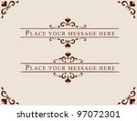 card and ornament design... | Shutterstock .eps vector #97072301