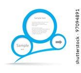 abstract glossy speech bubble.... | Shutterstock .eps vector #97094891