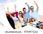 group of people going on a...   Shutterstock . vector #97097222