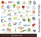 large collection of detailed... | Shutterstock .eps vector #97107983