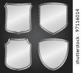 metal shields  vector eps10... | Shutterstock .eps vector #97116014