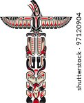 haida style totem pattern...