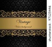 Stock vector vintage vector background 97125446