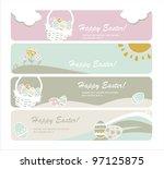 easter eggs card | Shutterstock .eps vector #97125875