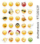 large vector set of 30... | Shutterstock .eps vector #97130129