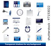 set of office and business 3d... | Shutterstock .eps vector #97153022