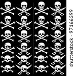 background,banner,black,bones,clip art,clipart,cross,crossbones,danger,death,design,element,evil,eye patch,flag