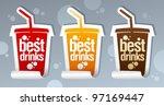 best drinks stickers in form of ... | Shutterstock .eps vector #97169447