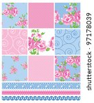 shabby chic country floral... | Shutterstock .eps vector #97178039