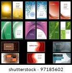 business card templates. | Shutterstock .eps vector #97185602