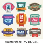 set of premium sale labels   Shutterstock .eps vector #97187231