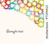flower vector   Shutterstock .eps vector #97194413