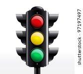 isolated traffic light vector   Shutterstock .eps vector #97197497